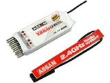 Assan X8-R4H 2.4Ghz 4-channel Micro Receiver (Short Antenna)